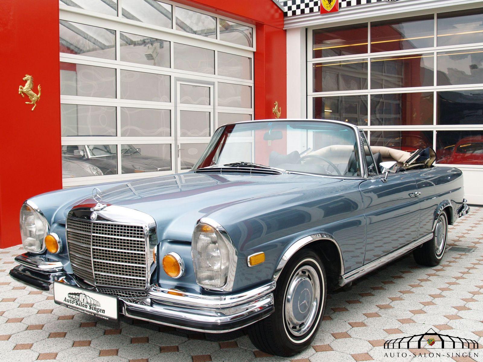 mercedes benz 280 se 3 5 cabrio convertible auto salon. Black Bedroom Furniture Sets. Home Design Ideas