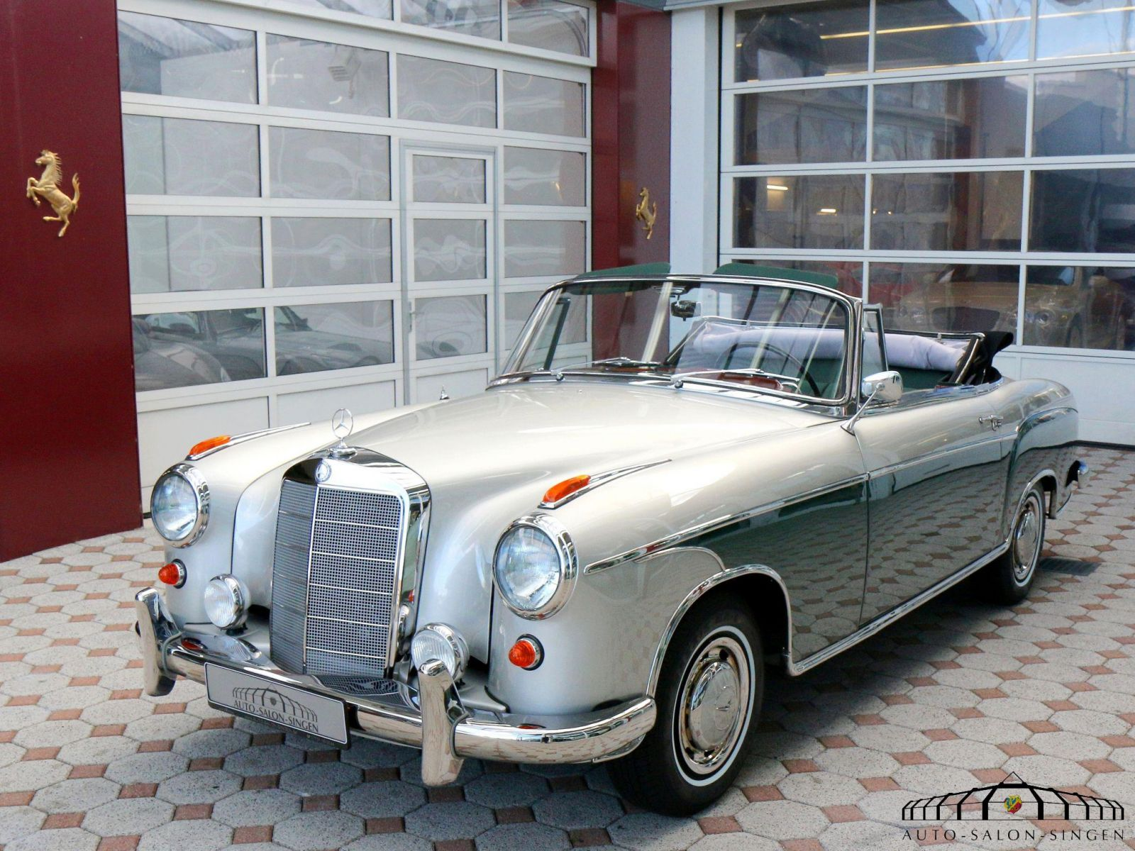 mercedes benz 220 s ponton cabrio a c cabrio auto salon. Black Bedroom Furniture Sets. Home Design Ideas