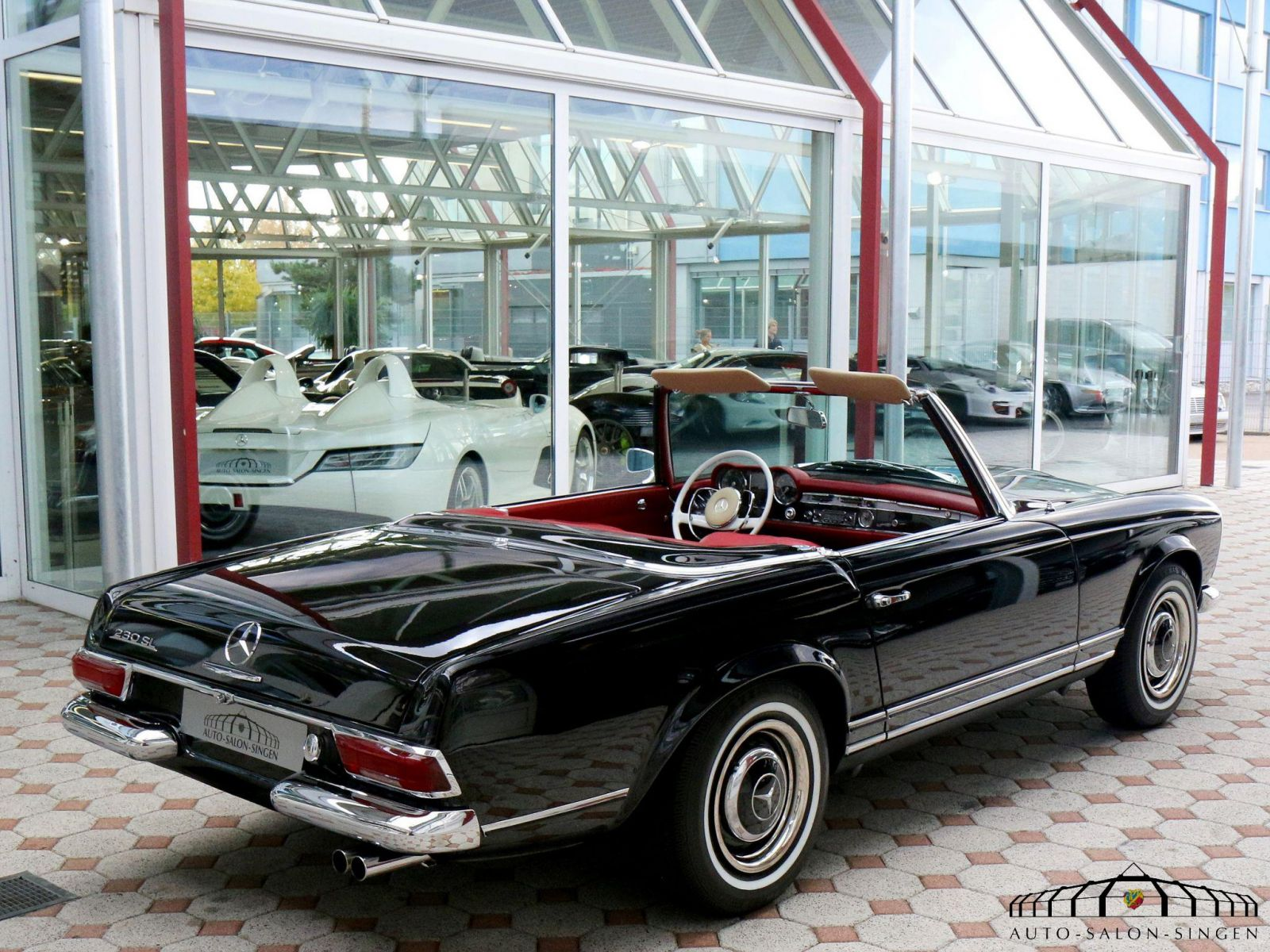 mercedes benz 230 sl pagode convertible auto salon singen. Black Bedroom Furniture Sets. Home Design Ideas
