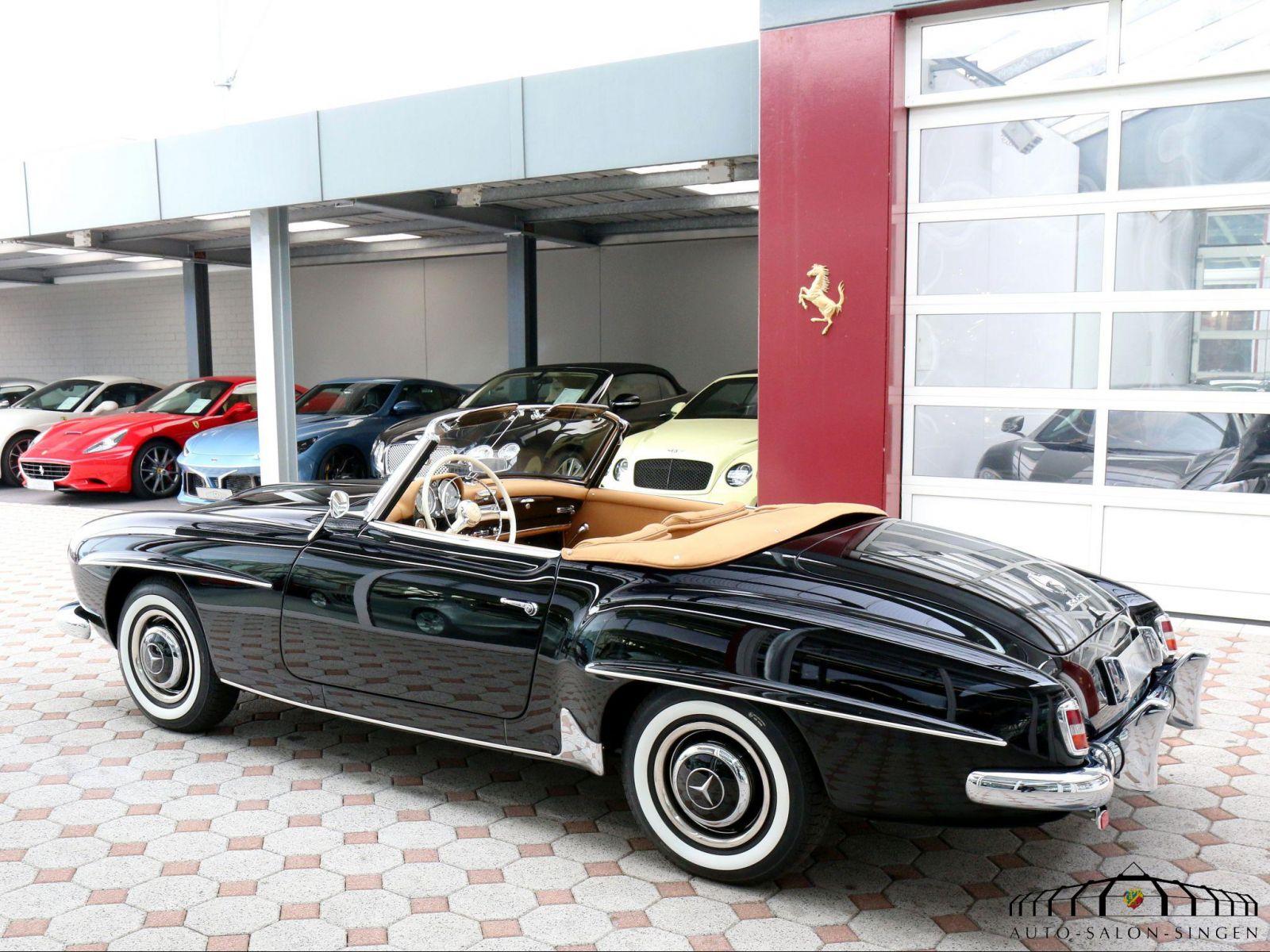 Mercedes benz 190 sl convertible auto salon singen for Mercedes salon