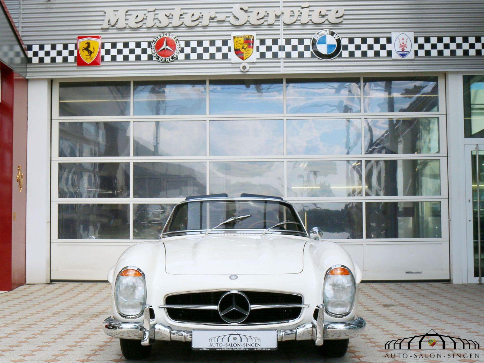 Mercedes benz 300 sl roadster convertible auto salon singen for Mercedes salon